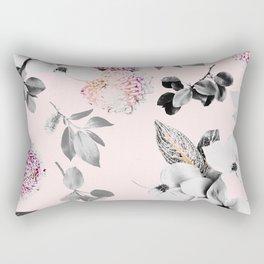 Night bloom - moonlit pink blush Rectangular Pillow