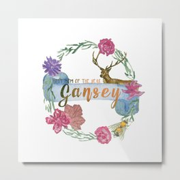 """Gansey - Best Mom of The Year"" The Raven Cycle Inspired Metal Print"