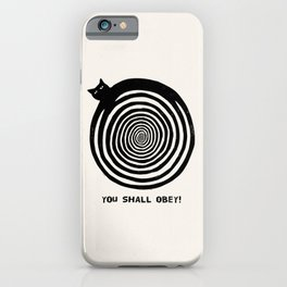 Hypnotic Black Cat iPhone Case
