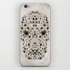 Watercolor Floral Skull iPhone & iPod Skin