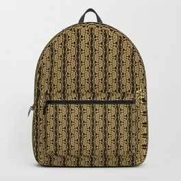 Gold Weave Abstrct Backpack