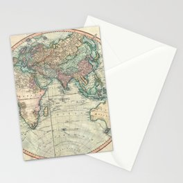 Vintage Map of The Eastern Hemisphere (1801) Stationery Cards
