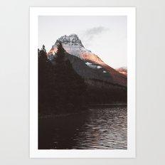 Sunset Mountain #society6 #buyart Art Print