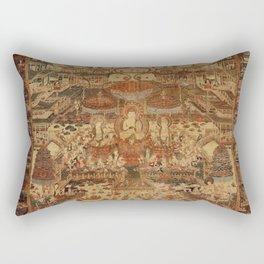 Buddhist Mandala Taima Motif Rectangular Pillow