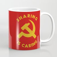 marx Mugs featuring Sharing Is Caring by Landon Sheely