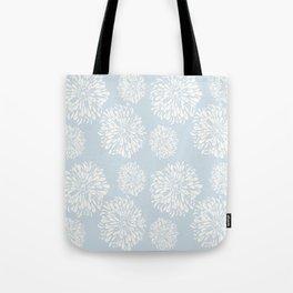 Sleepy Blue Zinnias Tote Bag