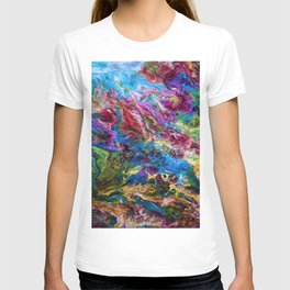 Calypso Abstract Painting by OLena Art T-shirt