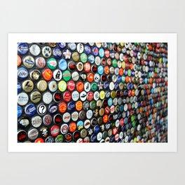 Bottle Caps  Art Print
