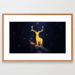The Stag's Totem Framed Art Print