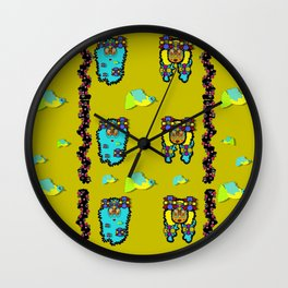 peace people hippie friends and free living fauna Wall Clock