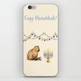 Capy Hanukkah - Capybara and Menorah iPhone Skin