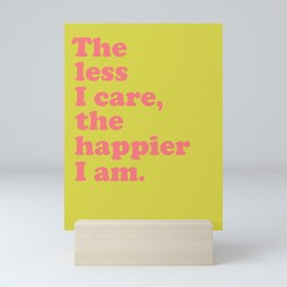 Inspirational Sayings Typography in Bright Colors Mini Art Print