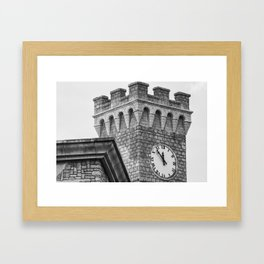 Old Clock Tower Framed Art Print