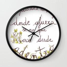 Bonheur Wall Clock