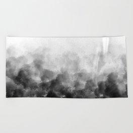 Ombre Smoke Clouds Minimal Beach Towel