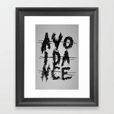 Avoidance Framed Art Print