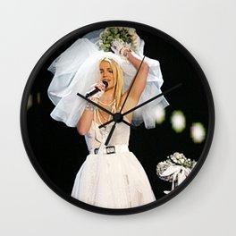 Britney Wedding 1 Wall Clock