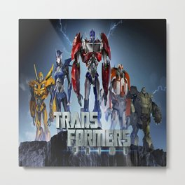 Transformers Prime Metal Print