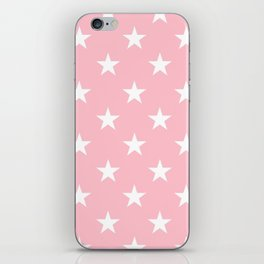 Stars (White/Pink) iPhone Skin