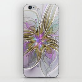 Flourish, Abstract Fractal Art Flower iPhone Skin