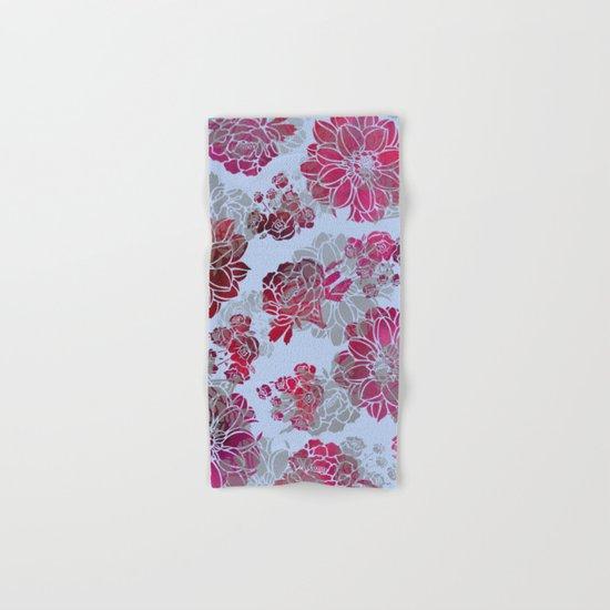 Flower Pattern Design Hand & Bath Towel