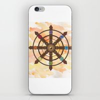buddhism iPhone & iPod Skins featuring Buddhism Dharma Wheel by Rachael Amber