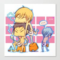 kuroko Canvas Prints featuring kuroko no basket by keiden