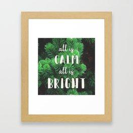 All Is Calm Framed Art Print