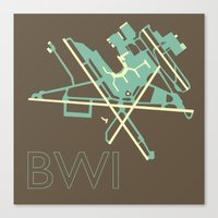 50s Canvas Prints featuring Baltimore-Washington (BWI) - 50s by Kyle Rodgers