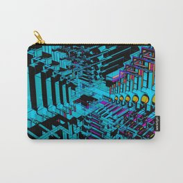 Abstract 3D Model Pattern Carry-All Pouch