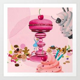 Pink Candy  Art Print