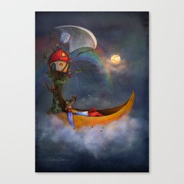 The daysleeper and his companions Canvas Print