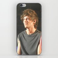 louis tomlinson iPhone & iPod Skins featuring Louis Tomlinson by Halle