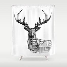 deer lines 02 Shower Curtain