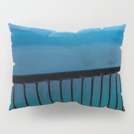 view of the infinite blue sea oil painting Pillow Sham