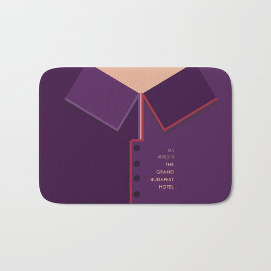 Wes Anderson's Grand Budapest Hotel - Minimal Movie Poster Bath Mat