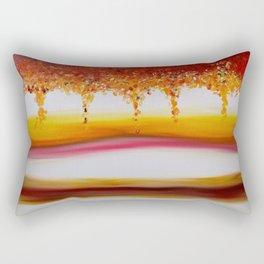 """Autumn"" Original oil finger painting by Monika Toth Rectangular Pillow"