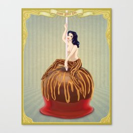 Candy Apple Girl Canvas Print