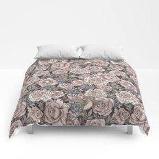 Flowers & Swallows Comforters
