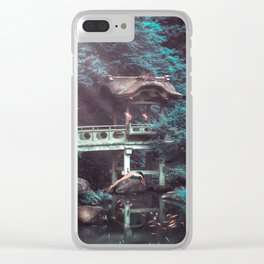 In the pool with head Clear iPhone Case