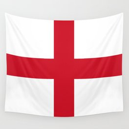 Flag of England (St. George's Cross) - Authentic version to scale and color Wall Tapestry