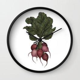Radishes Wall Clock