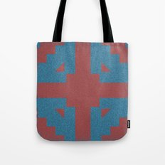 Blue & Red Noises Tote Bag