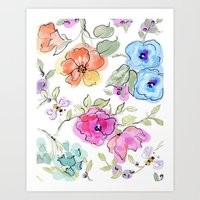 bees Art Prints featuring bees by Ariadne