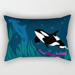 Under water Rectangular Pillow