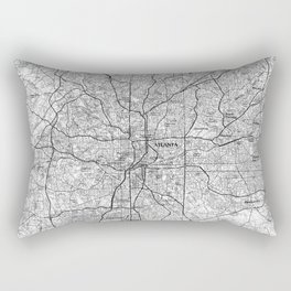 Atlanta Georgia Map (1981) BW Rectangular Pillow
