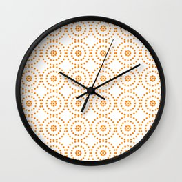 Yellow Glam Classic Hollywood Lights Wall Clock