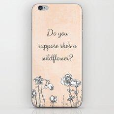 WILDFLOWER // ALICE IN WONDERLAND QUOTE iPhone & iPod Skin