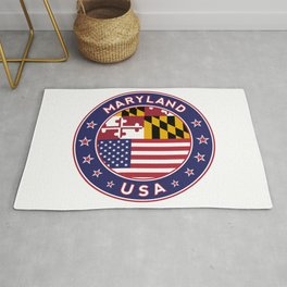 Maryland, Maryland t shirt, Maryland sticker, Maryland Poster Rug