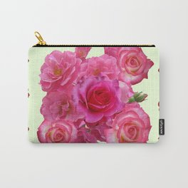 CONTEMPORARY ART RED & PINK GARDEN ROSES PATTERN Carry-All Pouch